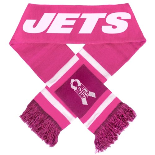 New York Jets 2012 NFL Breast Cancer Foundation Team Stripe Scarf at Amazon.com