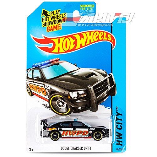 2014 Hot Wheels Hw City 48/250 - Dodge Charger Drift - Black - 1