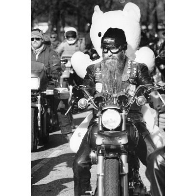 (11x17) Motorcycle Biker Teddy Bear Archival
