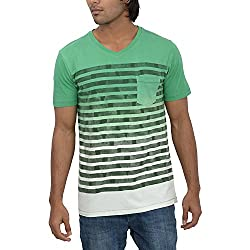 Inego Men's Casual Round Neck T- Shirt (Green )