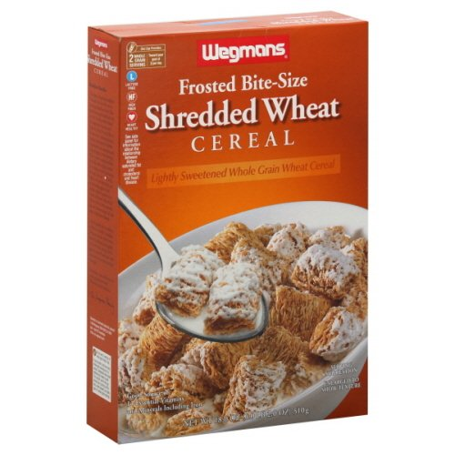 Wgmns Frosted Bite-Size Shredded Wheat Cereal, 18 Oz. Lactose Free. High Fiber. Heart Healthy. Whole Grain, (Pack Of 6)