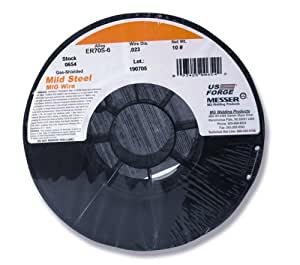 US Forge Welding Solid Mild Steel MIG Wire .023 10-Pound Spool #00654