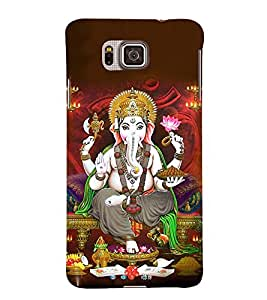 Lord Vinayaka Swamy 3D Hard Polycarbonate Designer Back Case Cover for Samsung Galaxy Alpha G850