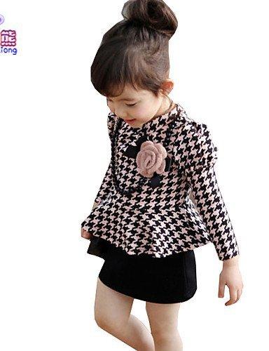 CBIN&HUA Vestito Girl Manica lunga Estate/Per tutte le stagioni/Primavera/Autunno Misto cotone , pink-120 , pink-120