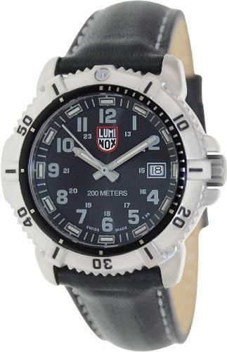 Luminox 7251 38mm Stainless Steel Case Black Calfskin Anti-Reflective Sapphire Women's Watch