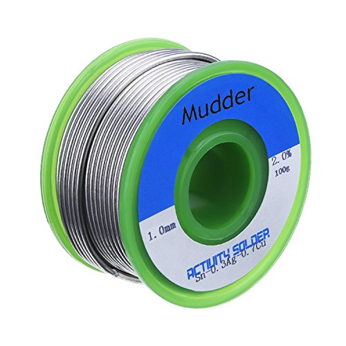 New Mudder 1.0mm Lead Free Solder Wire Sn99 Ag0.3 Cu0.7 with Rosin Core for Electronical Soldering, ...