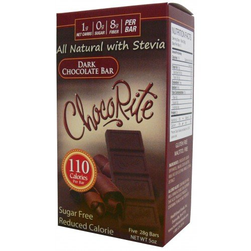 Sugar Free Dark Chocolate Bars with Erythritol - LC Foods - HeartSmart - Low Carb - Gluten Free - Diabetic Friendly - 5 oz