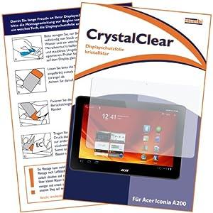 mumbi Displayschutzfolie Acer Iconia A200 25,7 cm (10,1 Zoll) Displayschutz CrystalClear unsichtbar