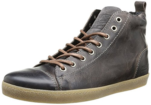 Jack & Jones Jj Brother Leather Casual High Prm, Scarpe da ginnastica Uomo, Nero (Noir (Pirate Black)), 42