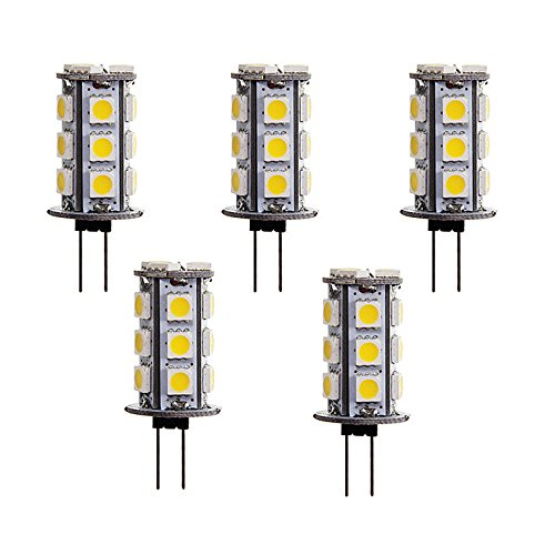 How Nice 5Pcs Led G4 3W 12V 18X5050Smd 180-220Lm 3000K Warm White Light Led Corn Bulb