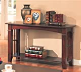 Coaster Antique Country Style Sofa Table, Cherry Finish