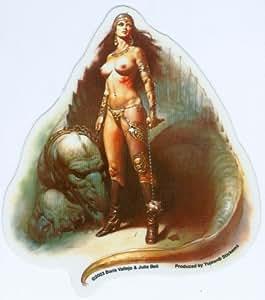 Boris Vallejo & Julie Bell - Warrior Chick - Sticker / Decal