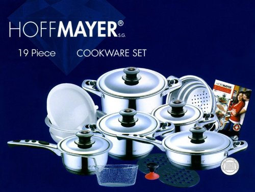 19 pc surgical stainless steel cookware set best kitchen coo