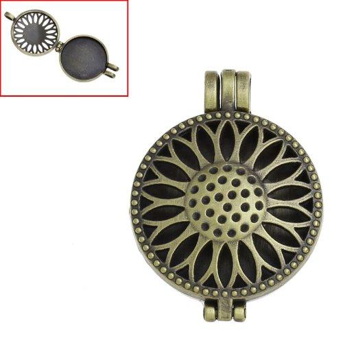 Sunflower design copper antique rocket pendant necklace tied