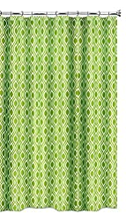 Popular Home The Nicole Collection Fabric Shower Curtain, Lime Green