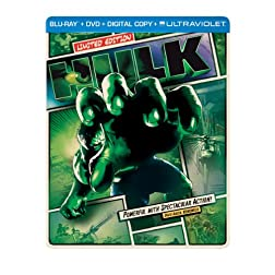 Hulk (Steelbook) (Blu-ray + DVD + Digital Copy + UltraViolet)