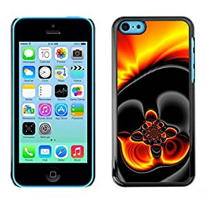Omega Covers - Snap on Hard Back Case Cover Shell FOR Apple iPhone 5C - Gold Hot Lava Fire Dark
