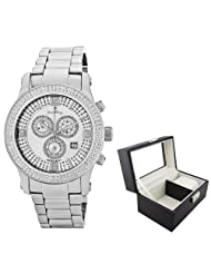 JBW-Just Bling Men's JB-6234-B.luxcase Lynx Diamond Mother-Of-Pearl Watch with Luxurious Case