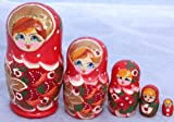 Stunning large traditional 5 Piece Russian Doll