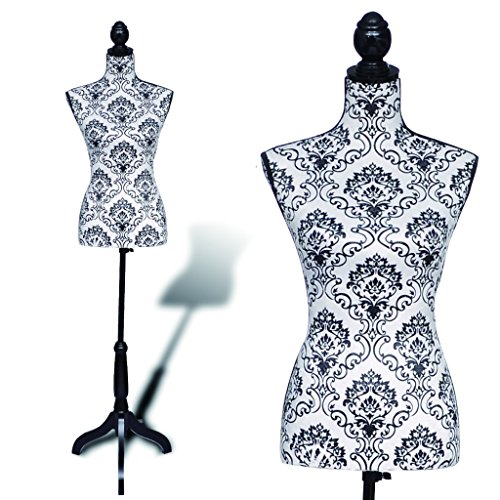 Anself Female Dress Form Mannequin with Black Wooden Tripod Base (Sewing Body Stand compare prices)