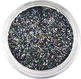 Moyou Nail Art Tiny Hexagon Glitters - Black
