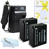 2 Pack Battery And Charger Kit For Panasonic LUMIX DMC-GX7, DMC-GX7S, DMC-GX7SBODY DSLM, DMC-GF6, DMC-GF6KK, DMC-LX100, DMC-LX100K Digital Camera Includes 2 Replacement DMW-BLG10 Batteries + Charger