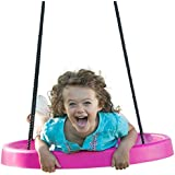 Super Spinner Swing, Fun! Easy Install For Swing Set Or Tree, Best Swing On The Planet! (Pink)