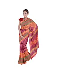 Aaradhya Bagru Hand Block Nep Top Print Cotton Saree For Women