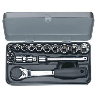 Wiha 60295 15 Piece 12 Point Socket Inch Set
