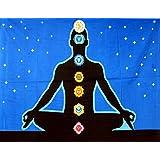 Beautiful Yoga Budha HaindPaint Cotton Wall Hanging Poster Wall Hanging,Wall Decor,Home Art Yoga Poster