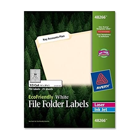 Avery EcoFriendly 48266 Multipurpose File Folder Label,0.67
