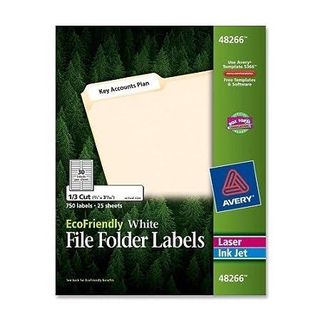 Avery EcoFriendly 48266 Multipurpose File Folder Label,0.67