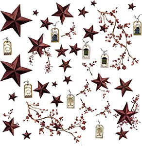 RoomMates RMK1276SCS Country Stars and Berries Peel & Stick Wall Decals from RoomMates