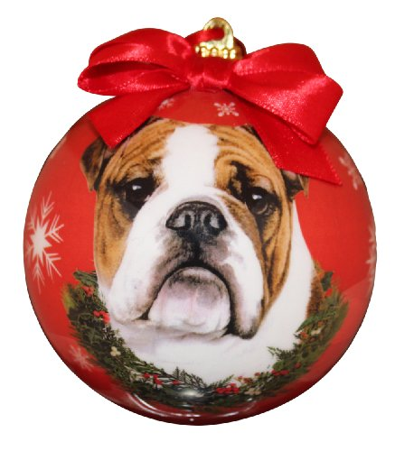 Bulldog Christmas Ornament Shatter Proof Ball Easy To Personalize A Perfect Gift For Bulldog Lovers (Bulldog Ball compare prices)