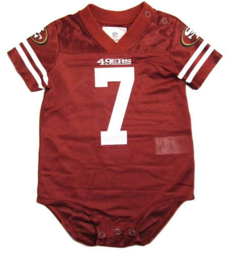 Colin Kaepernick #7 San Francisco 49ers Baby Bodysuit NFL Team Jersey, Red, 0-9 Months (3-6M) at Amazon.com