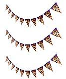 ハロウィン飾り かぼちゃフラッグガーランド 3個セット 三角フラッグ アップドラフト (Cタイプ 3個セット)