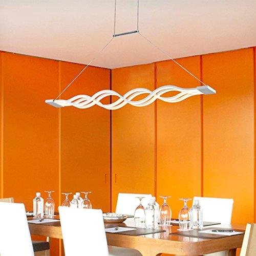 KJLARS-LED-Pendelleuchte-Esszimmer-Wohnzimmer-Kche-LED-Pendelampe-Moderne-Metall-und-Acryl-Hngeleuchte-HngelampeDimmbar