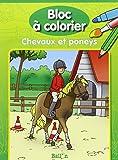 Bloc à colorier Chevaux et Poneys