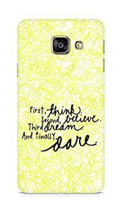 AMEZ think belive dream dare Back Cover For Samsung Galaxy A3 (2016 EDITION)
