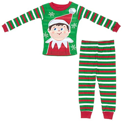 Elf on the Shelf Little Boys' Holiday Striped Cotton Pajamas