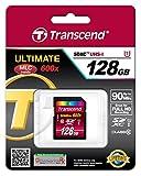 Transcend 128GB SDXC Class 10 UHS-1 Flash Memory Card Up to 90MB/s (TS128GSDXC10U1)