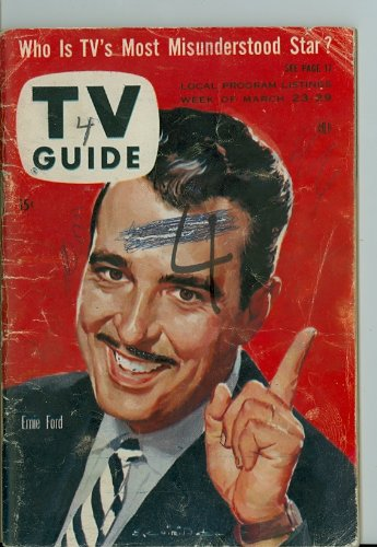 1957 Tv Guide Mar 23 Tennessee Ernie Ford - New England Edition - No Mailing Label Fair To Poor front-1026374