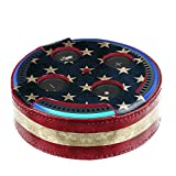 Fintie Protective Case for Amazon Echo Dot (Fits All-New Echo Dot 2nd Generation Only) - Premium Vegan Leather Cover Sleeve Skins, US Flag