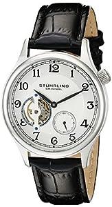 Stuhrling Original Men's 983.01 Legacy Analog Display Mechanical Hand Wind Black Watch