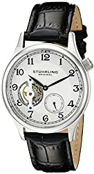 Stuhrling Original Men's 983.01 Legacy Analog Display Mechanical Hand Wind Black Watch