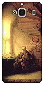 The Racoon Grip Philosopher in meditation - Rembrandt hard plastic printed back case / cover for Xiaomi Redmi 2 Prime