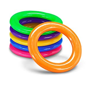 Amazon.com: Plastic Cane Rack Rings Party Supplies (4dz), Assorted