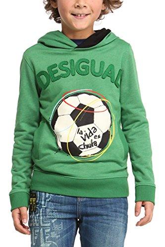 Desigual Jungen Sweatshirt SWEAT_TIERRA, Gr. 104 (Herstellergröße: 4), Grün (Verde Mckennan 4052)