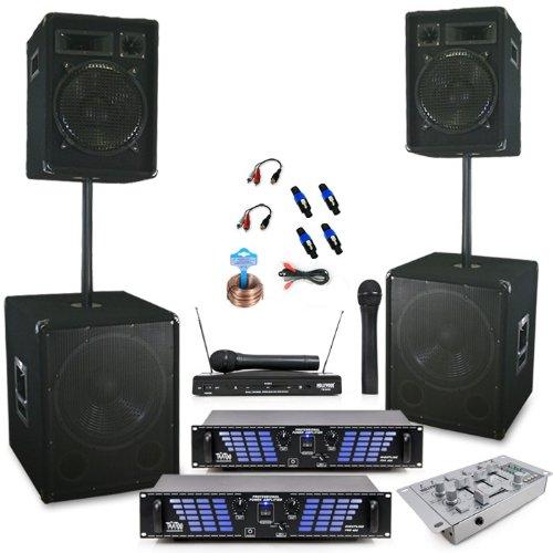 3200w pa set boxen subwoofer verst rker mixer dj 496 heimkinosysteme kaufen. Black Bedroom Furniture Sets. Home Design Ideas