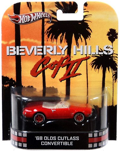 Hot Wheels Retro Beverly Hills Cop II 1:55 Die Cast Car '68 Olds Cutlass Convertible - 1